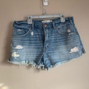 Abercrombie size 10 High rise shorts Light wash